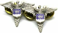Air Force Medical Collar Brass Badge Pin USAF Military Nurse Medic Insignia Rare