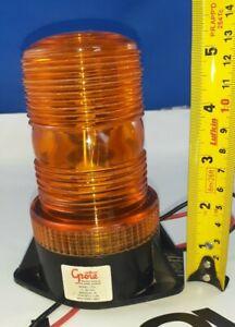 GROTE Strobe Light PN 7701 Rotating Safety Beacon Amber 12-80 VDC Equipment