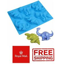 Large Dino Silicone Chocolate Mould Dinosaurs Ice Cube Tray Mold Baking Cake Wax