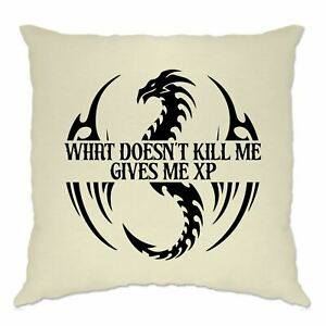 What Doesn't Kill Me Gives Me XP Cushion Cover DnD D&D Gaming Geek Gift
