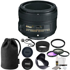 Nikon 50mm f/1.8G Auto Focus-S NIKKOR FX Lens + 58mm Accessory Kit
