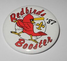 1987 Baseball Pin Coin Big Red Booster St Louis Cardinals Minor League Pinback