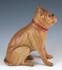 Vintage Cast Iron Metal A. C. Williams Boxer (Bulldog) Still Bank Reproduction