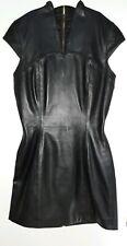 Crazy Outfits Leder Kleid Mini Zip Reissverschluss Schwarz 36 US 6 Leather Dress