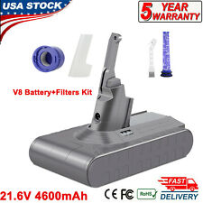 For Dyson V8 SV10 Replacement Battery Real 4600mAh 21.6V Lithium Battery+filter