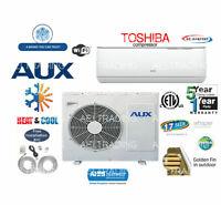 12,000 BTU Ductless Air Conditioner, Heat Pump Mini Split 110V 1 Ton W/Kit&WiFi