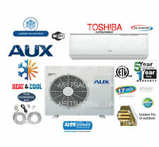 12,000 BTU Ductless Air Conditioner, Heat Pump Mini Split 220V 1 Ton W/Kit&WiFi