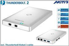 Akitio Thunderbolt HUB THUNDER 2 Dock 2x TB, 1x fw800, 2x USB 3.0, (x19)