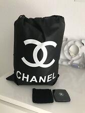 Chanel Make-up Spiegel & Blanket Fleece Decke Set 150cm x 200 cm XL Neu