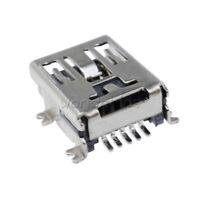 100Pcs Mini USB Type B Female 5-Pin SMT SMD Socket Jack Connector Port PCB Board