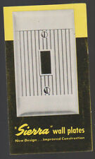 Sierra Wall Plates Brochure 1948 McDonald Manufacturing