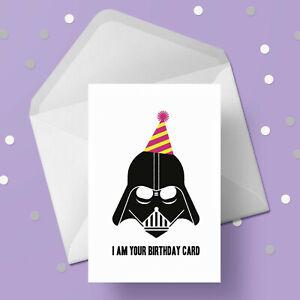 Star Wars Birthday Card - Funny Darth Vader - Free 1st class postage