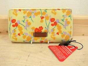 Radley 'Butterfield' Floral Yellow Print Large Zip Purse - New With Tags (Haw)