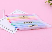 10Pcs Fluorescent Pen Mild Liner Highlighters Color Marker Pens School Supplies