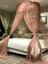 Lace Net Dome,Princess Round Hoop Bed Curtain Canopy Net For Queen King Bed