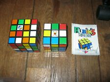 Lot rubik's cube 3 x 3 and 4 x 4 + methode complete + triangle pyramid shape