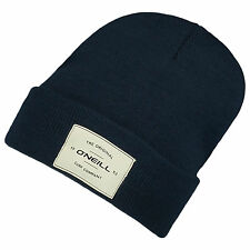 O'NEILL MENS BEANIE HAT.NEW TIMEPIECE BLACK WINTER KNIT TURN UP CAP 7W 114 9010