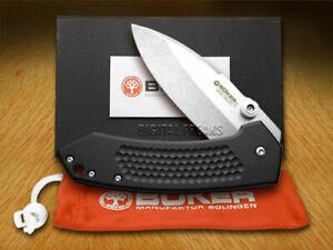 Boker Tree Brand Anso Solo Liner Lock Knife Black Aluminum 110633
