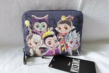 More details for disney loungefly: villains chibi wallet - modern pinup exclusive new with tags