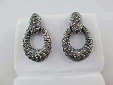 Vintage ND Marcasite Sterling Silver 925 Earrings Stud 630C