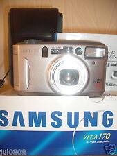 BOXED SAMSUNG VEGA 170 QUARTZ DATE~PANORAMA 35MM FILM CAMERA~38-170MM LENS MM25