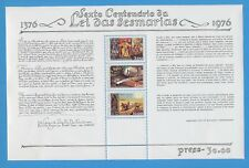 PORTUGAL      scott  1290a  - VFMNH S/S -  Agriculture Reform Law - 1976