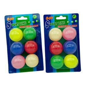 6Pcs Ping Pong Balls 40mm Mixed Colours Table Tennis Beer UK Stock & Seller