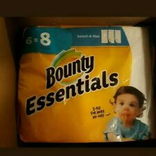 Bounty Essentials 6 = 8 Select-A-Size Paper Towels FREE SHIPPING TO EAST COAST