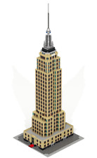 CUSTOM LEGO Empire State Building: New York.Skyscraper. 42 inches HEIGHT !!!