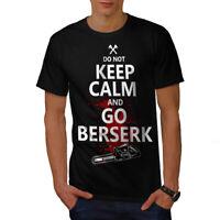 Wellcoda Keep calm Slogans Horror Mens T-shirt, Go Graphic Design Printed Tee