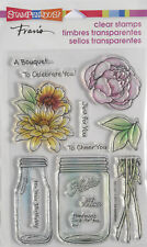 STAMPENDOUS BOUQUET FOR YOU Flowers Clear Stamps Cardmaking Craft Scrapbooking