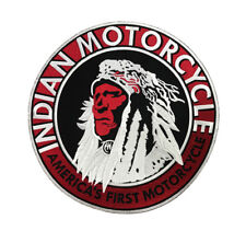 Indian Motorcycle Large Biker Back Patch, Iron/Sew On (10 Inch)