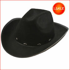 3a1d934bb3be8 Black Cowboy Hat Fedora Felt Justin Cowgirl Stylish Western Costume Woman  Party