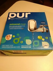 NEW! PUR Mineral Clear Filtration System Chrome FM-3700B EASY faucet mount