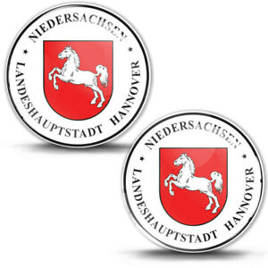 3D Gel Domed Sticker Badge Niedersachsen Stadt Hannover German Number Plate Seal