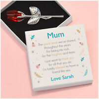 PERSONALISED Birthday Keepsake Crystal Rose Gifts for Mummy Nanny Mum Nanna