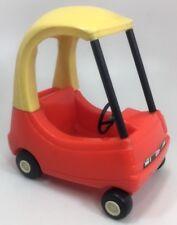 Vintage LITTLE TIKES Dollhouse Size Mini COZY COUPE CAR Toy Small Retro Doll