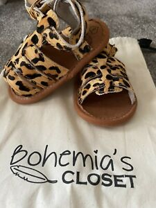 Baby Gladiator Leopard Sandals