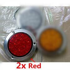 2x Rund LED Rücklampe Rot Bremsleuchten 14cm 12/24V Auto Lkw Anhänger Wohnwagen
