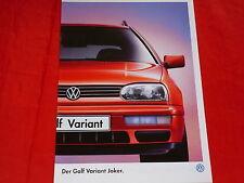 """VW GOLF III Variant """"JOKER"""" speciale prospetto modello di 1997"""