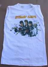Vintage Stray Cats White T-Shirt Small Creative Glassics Album Promo Promotional