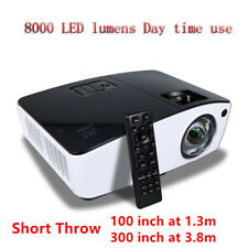 New 8000 lumen Home Theater Bar Church ultra short throw projector office school