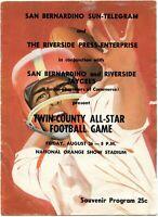 1960 1st San Bernardino / Riverside All Star Football Game Program - big Coke ad