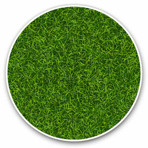 2 x Vinyl Stickers 10cm - Green Grass Turf Football Sports Cool Gift #14823