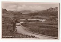 Mountain And Moorland The Trossachs Aberfoyle Road Vintage RP Postcard 957b