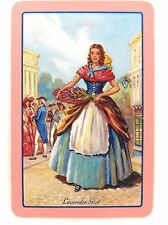 .PLAYING CARD. NAMED. LAVENDER GIRL. NEAR MINT !!!