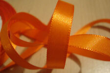 ** Satin Ribbon, Orange Colour 10mm x 5 Metres**