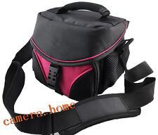 Vecolo Camera Bag Case For Nikon Sony Canon fuji JVC DV pink Portable