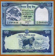 Nepal, 50 Rupees, 2012 (2013), P-New, UNC Everest, Goat