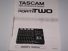 Tascam Porta Two Mini Studio   PDF Manual